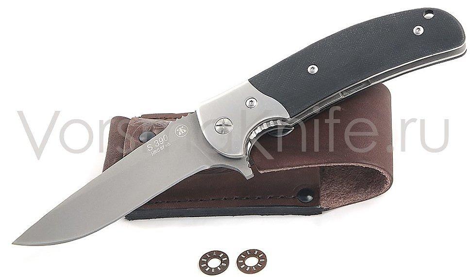 Нож складной 012 S390 черная микарта